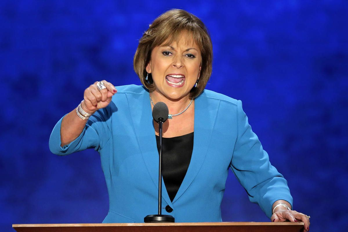 New Mexico Governor Susana Martinez addresses the Republican National Convention in Tampa, Fla., on Wednesday, Aug. 29, 2012. (AP Photo/J. Scott Applewhite)