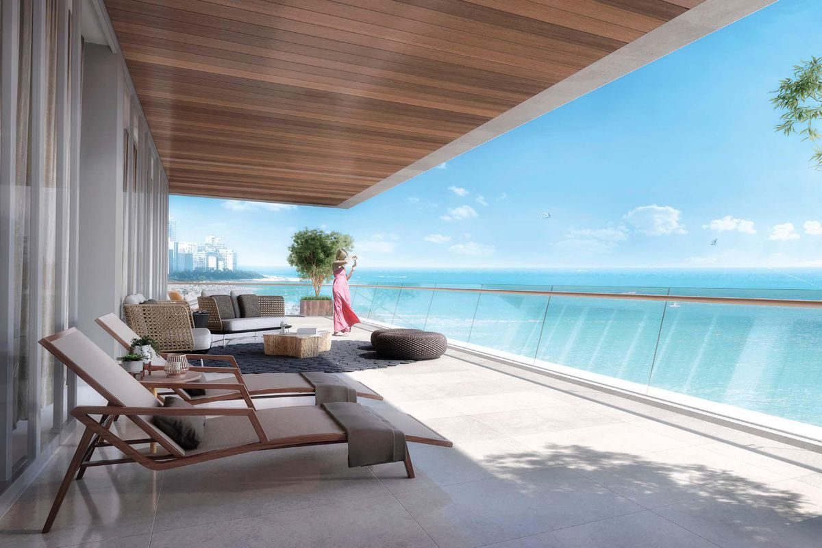 Rendering Of A Planned Condo In Miami Beach Via Arquitectonica