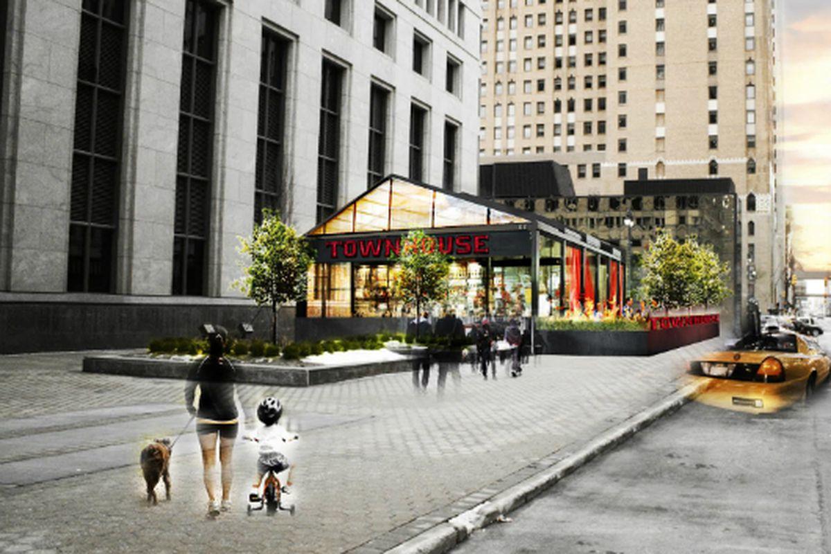 Townhouse Detroit renderings.