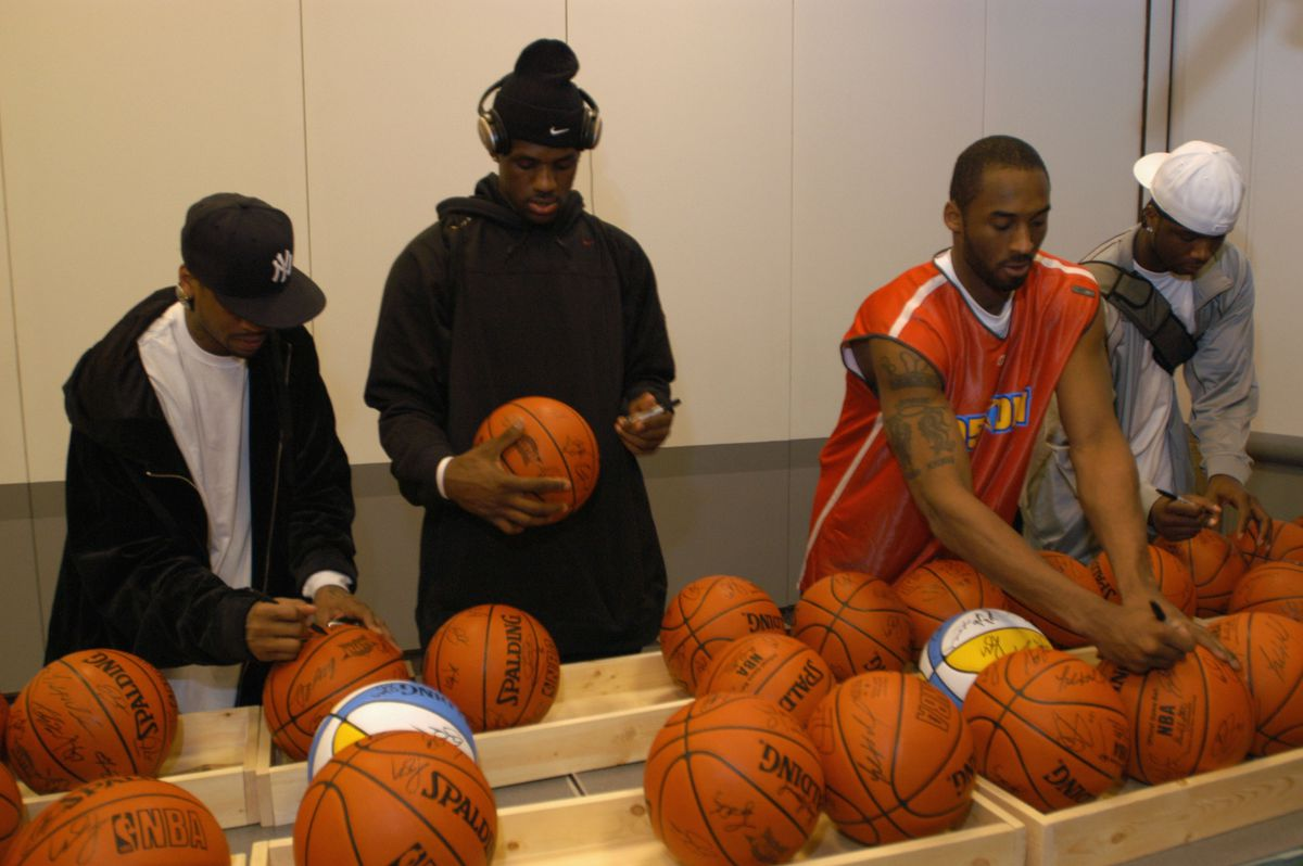 2005 NBA All-Star East/West Practice