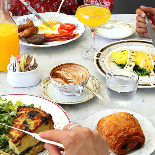 You can find a most excellent brunch at Mercat Bistro.