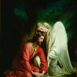 Carl Bloch, Christ in Gethsemane, 1878-79, Oil on canvas, Sankt Hans Kirke, Odense, Denmark.