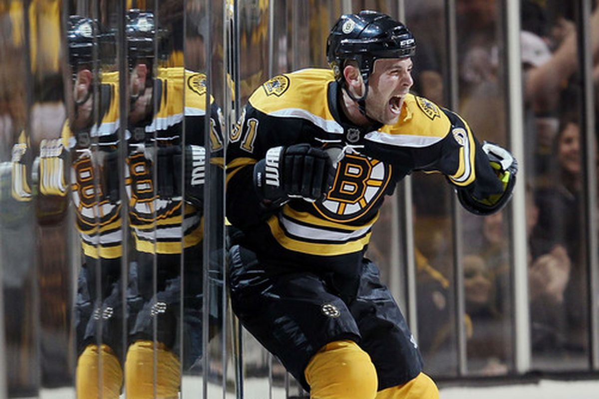 Marc Savard after his OT GWG against the Flyers in the 1st game of the ECSF, May Day 2010. Just Because.