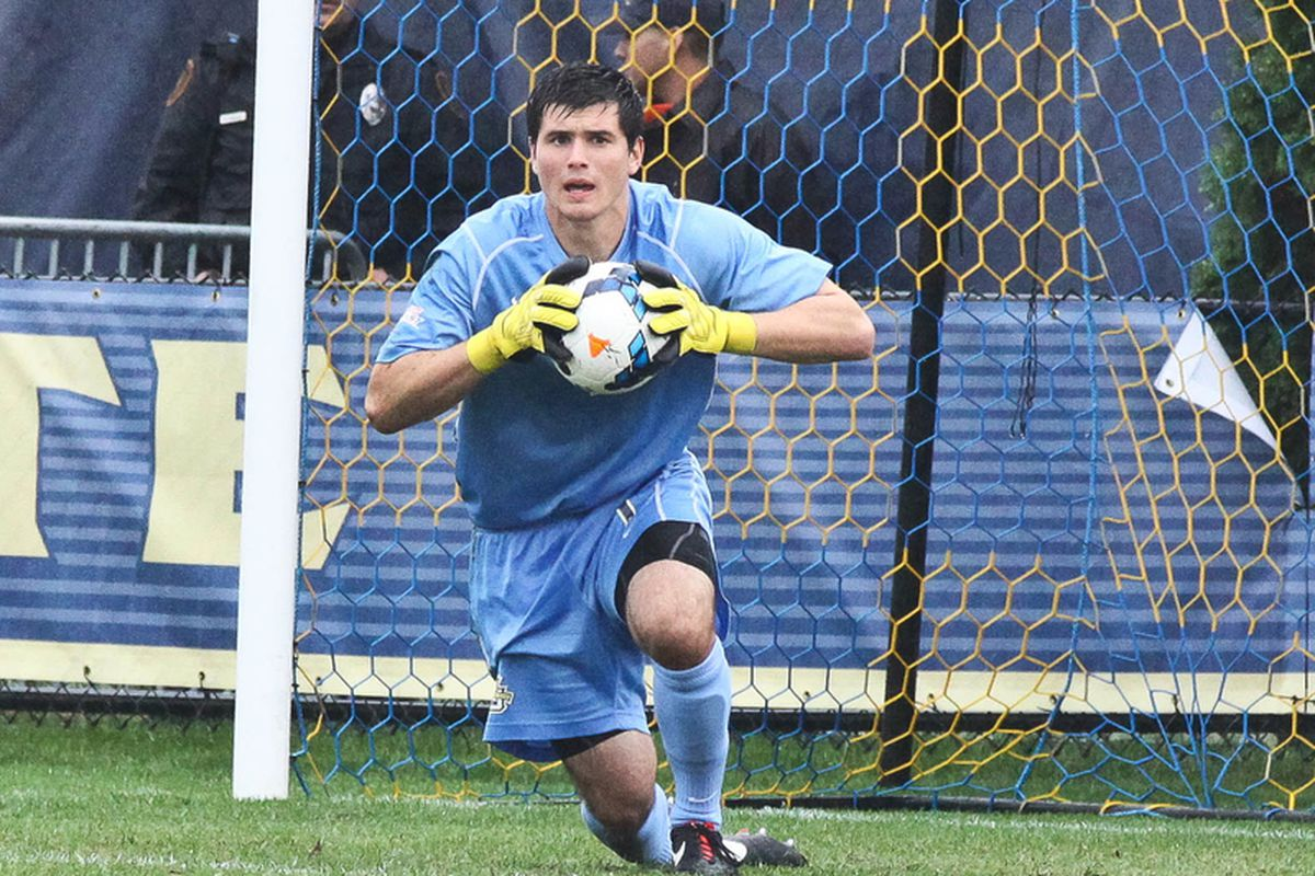 Marquette goalkeeper Charlie Lyon made four saves in the loss.