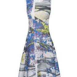 "Perforated Neoprene Space Garden Dress, <a href=""http://www.scoopnyc.com/perforated-neoprene-space-garden-dress.html"">Clover Canyon</a>, $450"