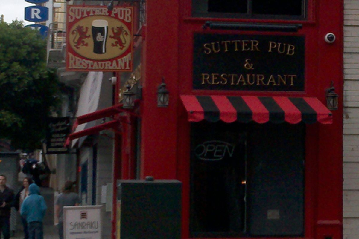 Sutter Pub Soft Opens On The Nobby End Of Nob Hill Eater Sf