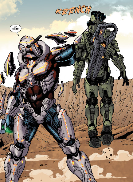 Master Chief's head gets crushed
