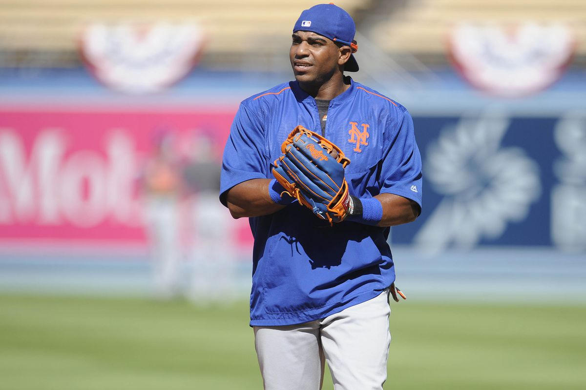 Yoenis Cespedes is batting third and playing center field.