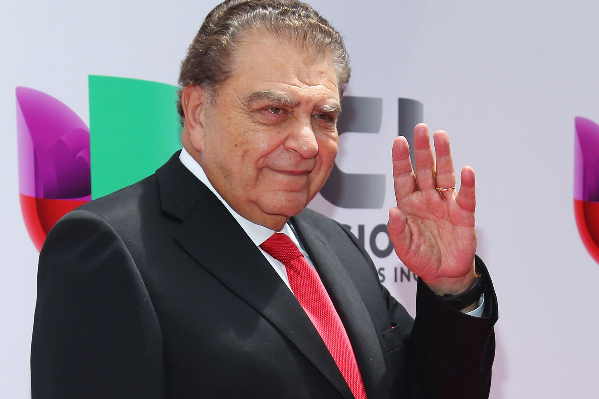 Sabado Gigante host Don Francisco is perhaps the Univision personality best known to non-Univision viewers. Here he is attending the network's upfront.