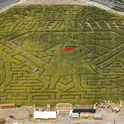 Cornbelly's new superhero-themed corn maze at Thanksgiving Point in Lehi on Tuesday, Sept. 19, 2017. Cornbelly's is the state's original corn maze and pumpkin festival returning for its 22nd season.