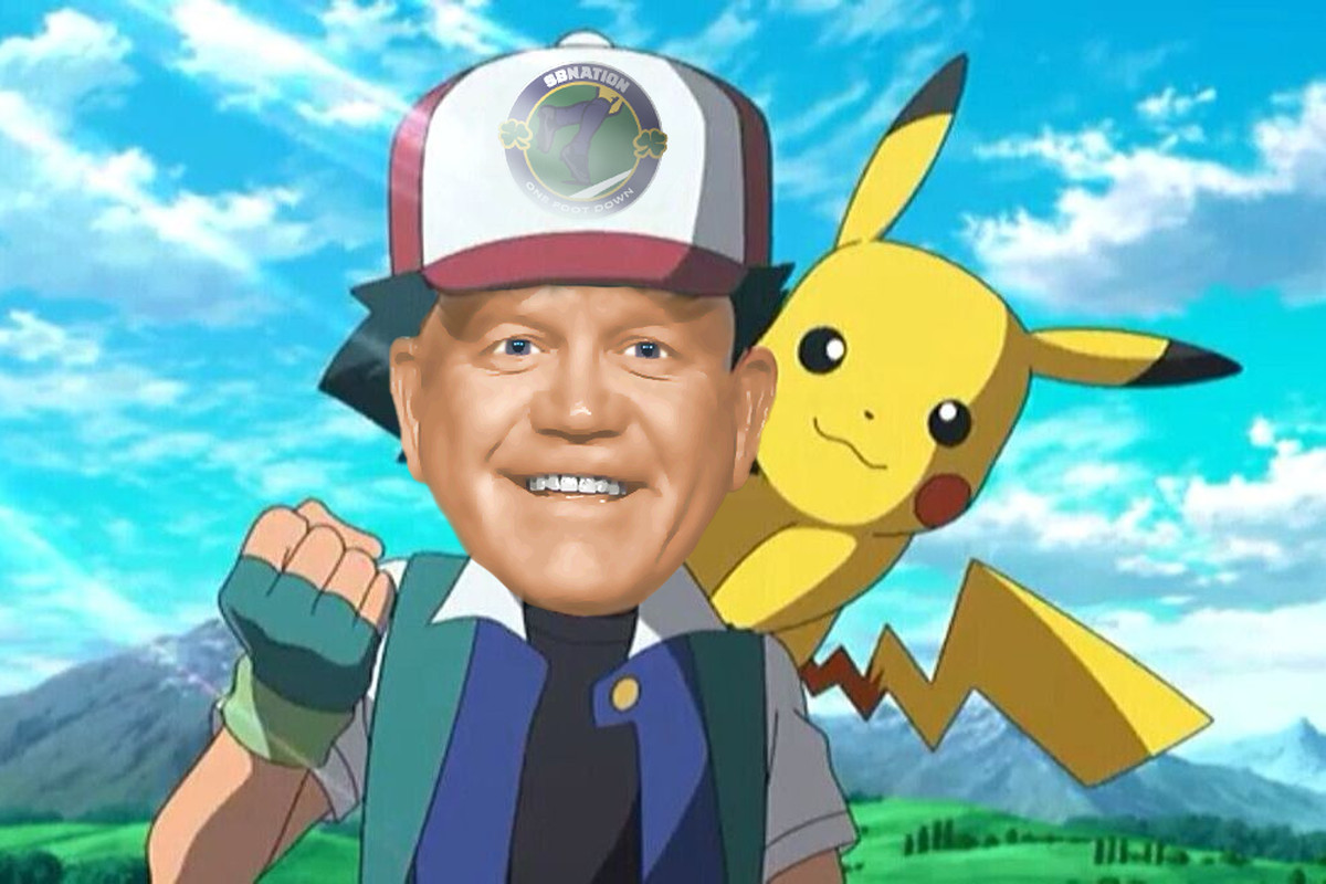 brian kelly in the pokeman world of Notre Dame