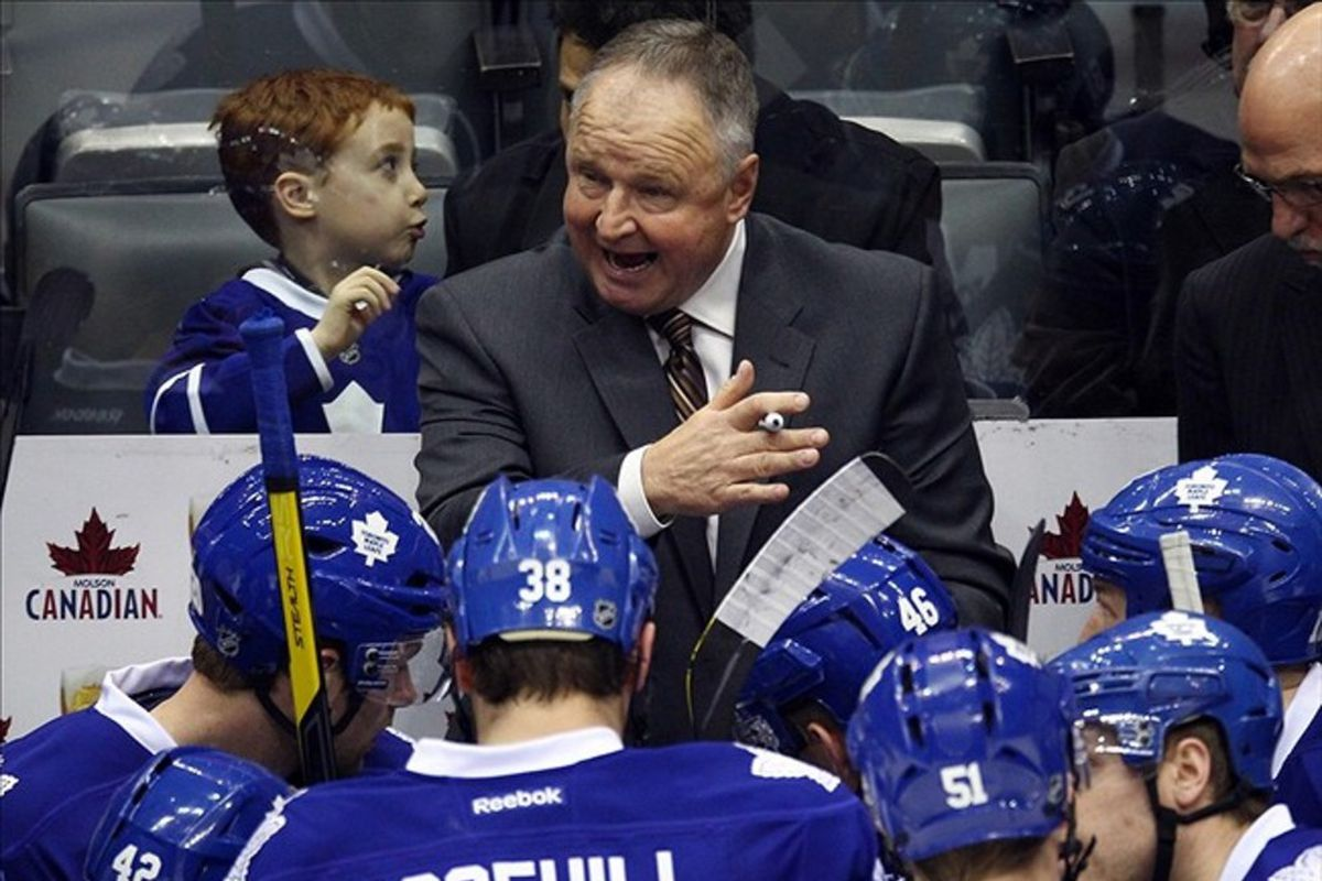 The Leafs biggest weakness wasn't on the ice - it was the pen in Randy Carlyle's right hand.
