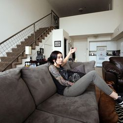 Kenzie Smith is interviewed at her apartment in Salt Lake City on Thursday, April 28, 2016.