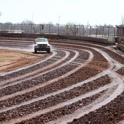 watering down the track
