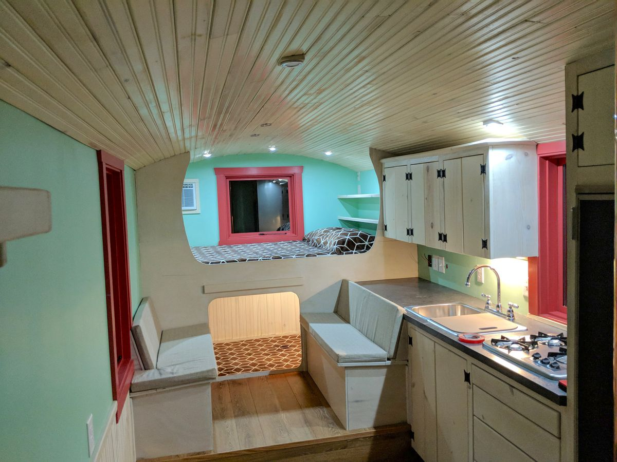 Travel Trailer Is A Cozy Tiny House On Wheels Fidelity Home Group