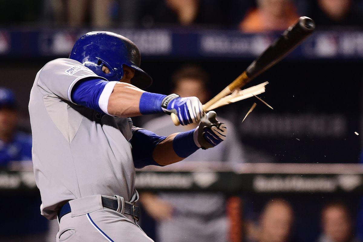 This bat died a three-run hero.