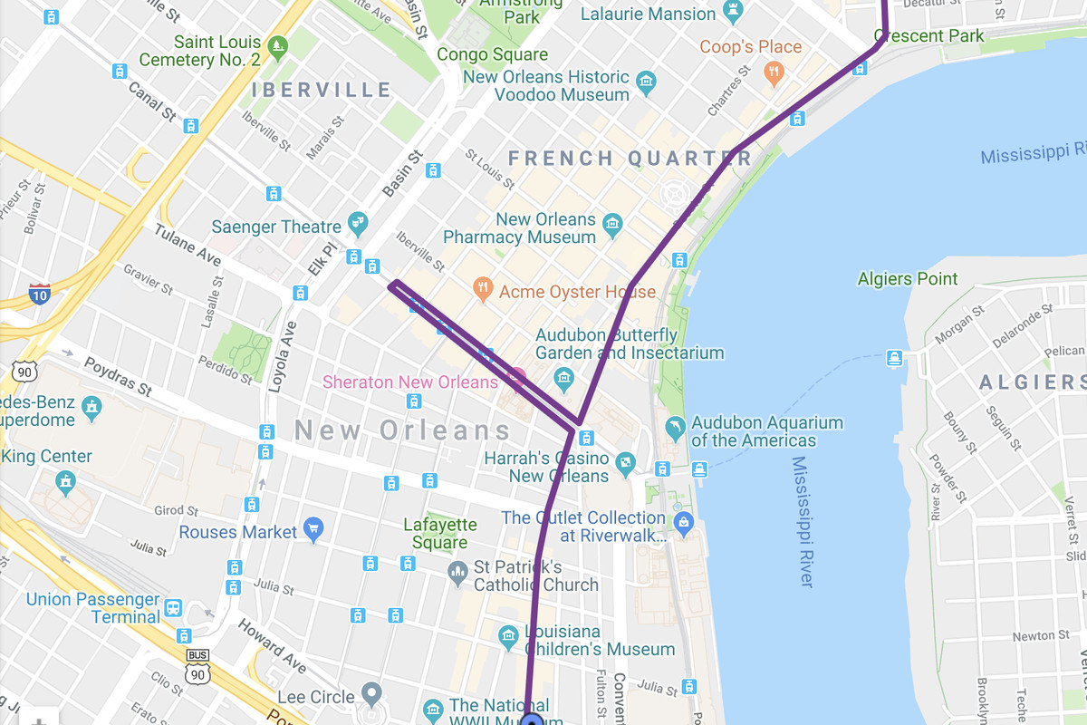New Orleans Parade Routes Map new orleans halloween krewe of boo parade street closures   Curbed
