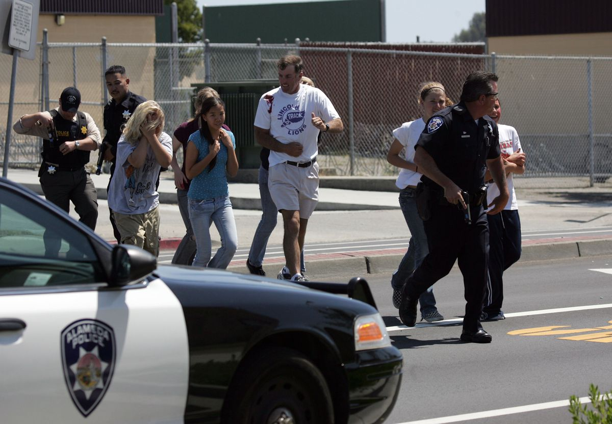 California School Conducts Shooting And Evacuation Drill