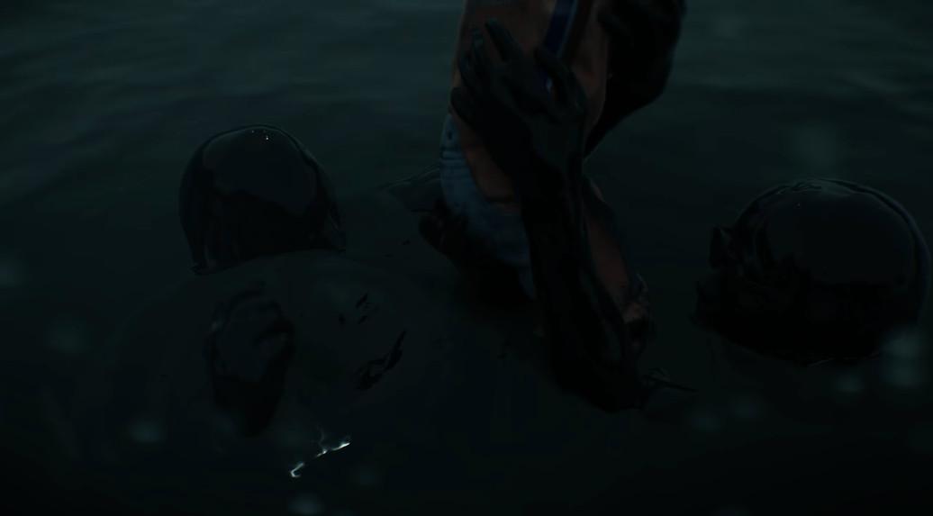 kojima floating in death stranding trailer maybe?