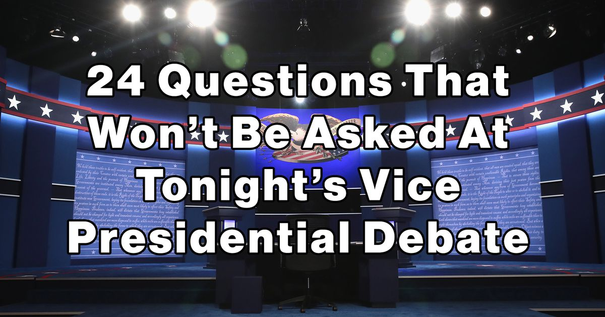 24 Questions That Won't Be Asked At Tonight's Vice ...