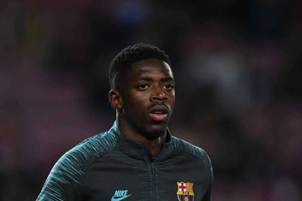 Ousmane Dembele gets back to work at Barcelona