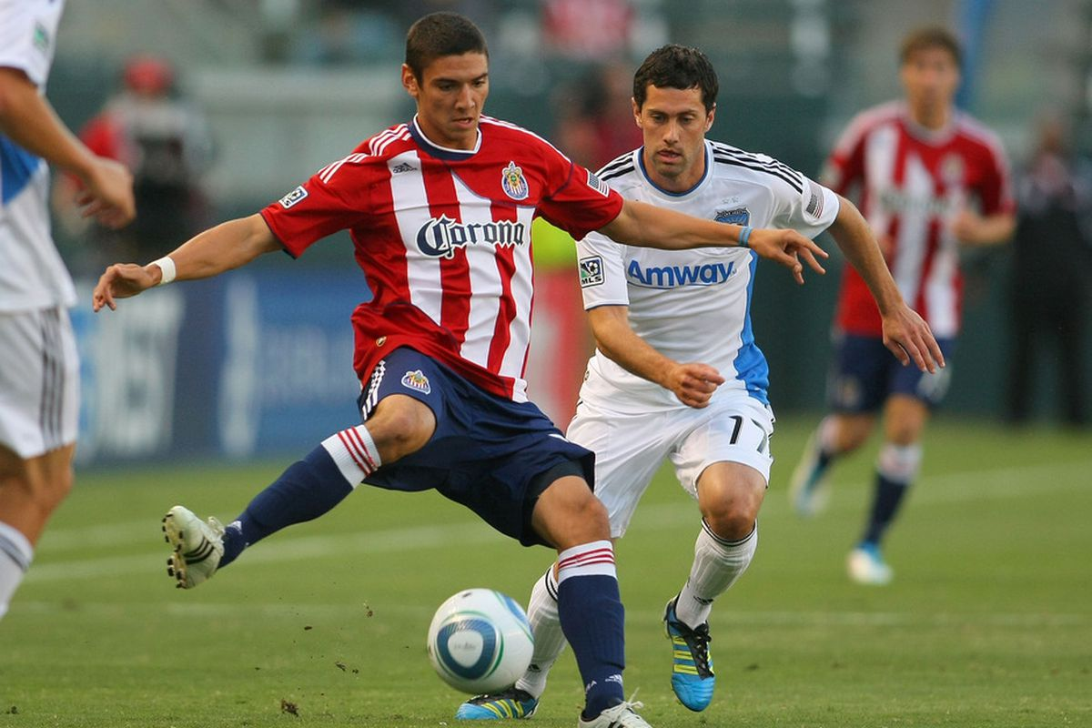 CARSON, CA - JULY 06:  Valentin during his season with Chivas USA.  (Photo by Victor Decolongon/Getty Images)