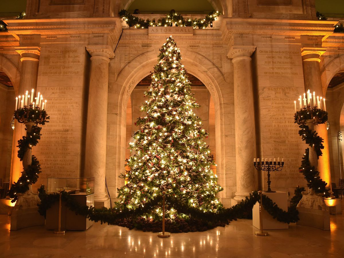 The New York Public Library Christmas tree.