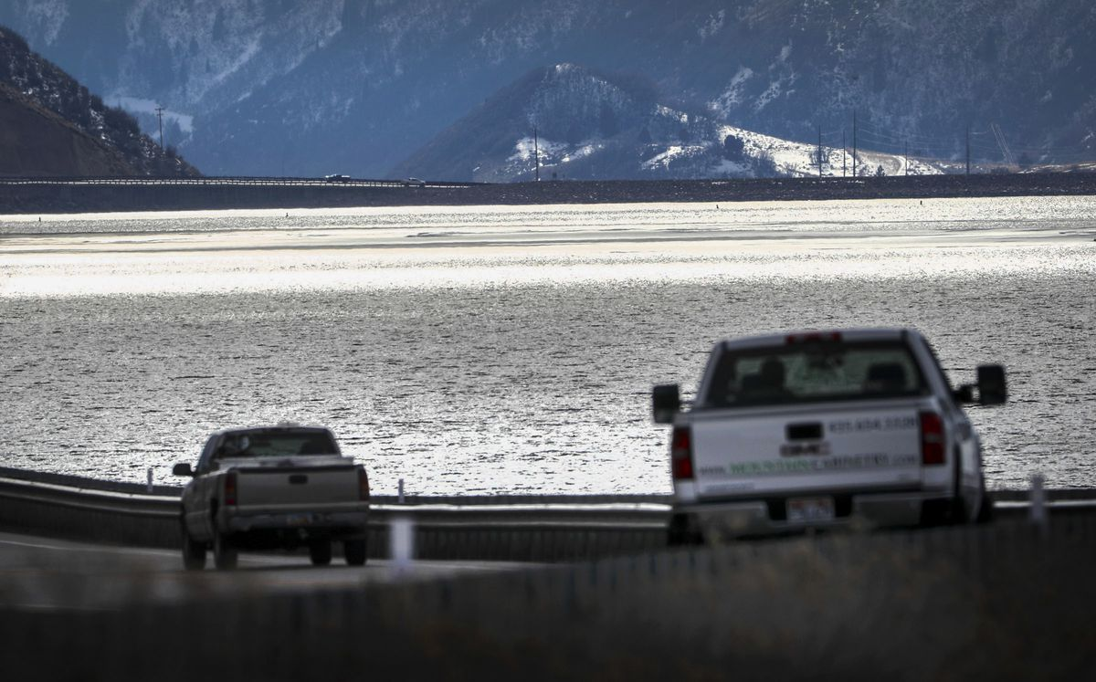 Deer Creek Reservoir in Wasatch County is pictured on Wednesday, Feb. 12, 2020.