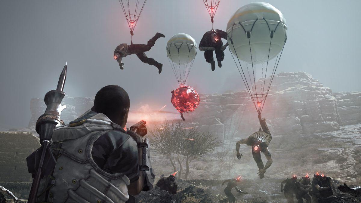 A player Fultons enemies in Metal Gear Survive