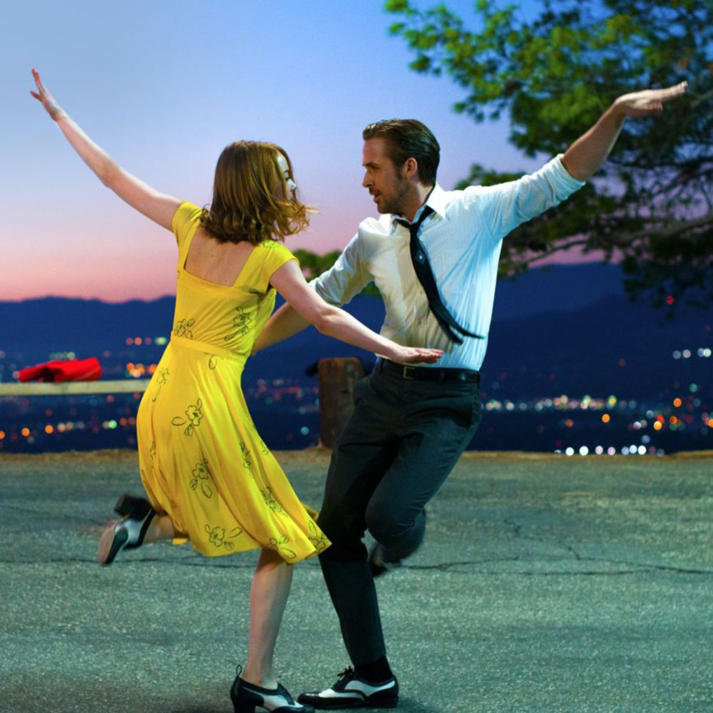 Emma Stone and Ryan Gosling wear matching shoes from Worldtone.