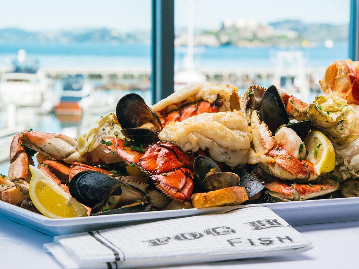 Seafood platter at Fog Harbor