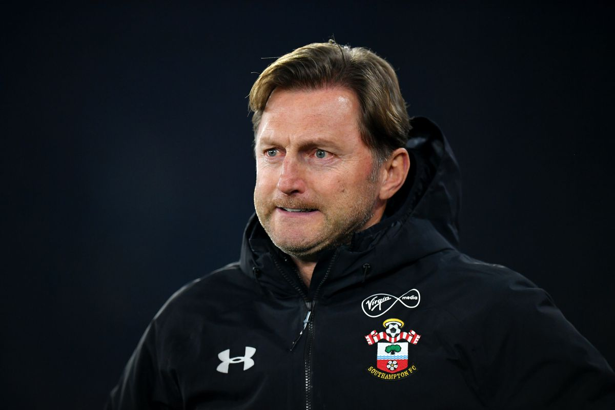 Saints coach Ralph Hasenhüttl looking on as Southampton were defeated by West Ham in the Premier League