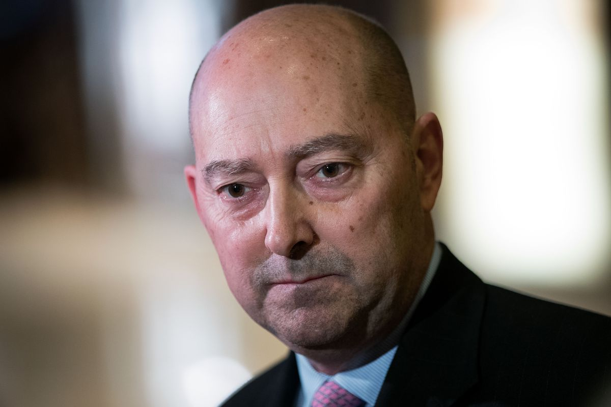 James Stavridis, retired US Navy admiral speaks to reporters at Trump Tower, December 8, 2016 in New York City. He just co-signed a letter slamming President Donald Trump's decision to cut off aid to three Central American countries.