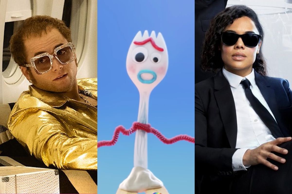 Rocketman, Toy Story 4, and Men In Black: International all come out this summer.