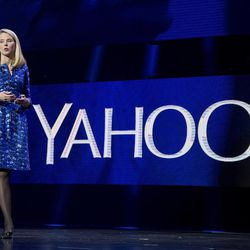 FILE - In this Jan. 7, 2014, file photo, Yahoo president and CEO Marissa Mayer speaks during the International Consumer Electronics Show in Las Vegas. On Tuesday, June 13, 2017, Verizon took over Yahoo, completing a $4.5 billion deal that will usher in a new management team to attempt to wring more advertising revenue from one of the internet's best-known brands. Tuesday's closure of the sale ends Yahoo's 21-year history as a publicly traded company. It also ends the nearly five-year reign of Yahoo CEO Marissa Mayer, who isn't joining Verizon.