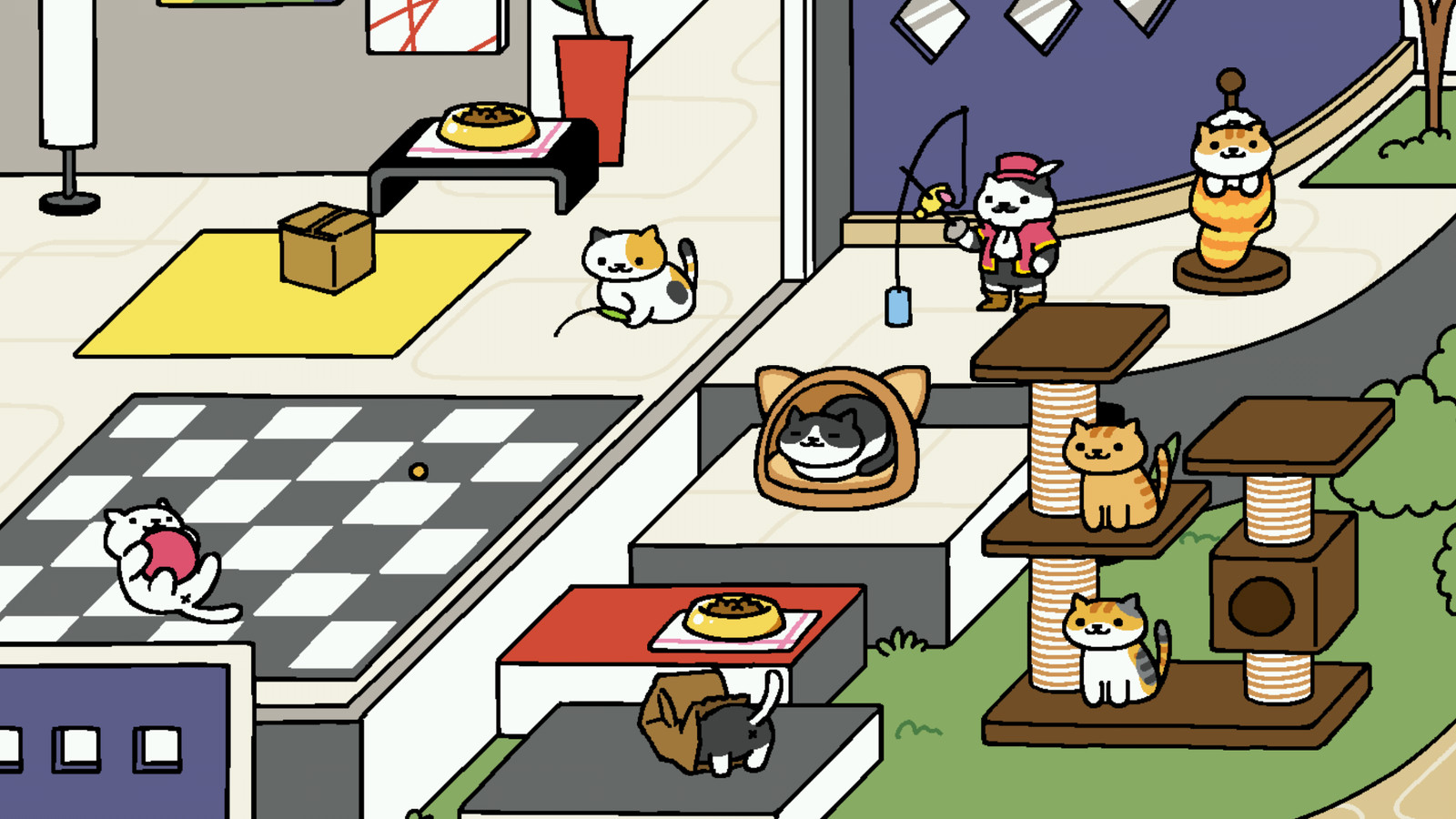 Inside Neko Atsume The Anese Cat