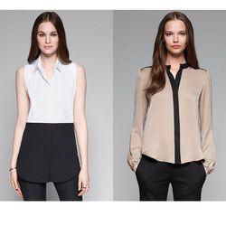"<a href=""http://www.theory.com/button-down-shirt/C0704516,default,pd.html?dwvar_C0704516_color=100&start=13&cgid=womens-just-in""><b>Theory</b> Tablissa C Stretch Cotton Button-Down Shirt</a> $200 and <a href=""http://www.theory.com/GERINE/C0702507,default,"