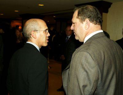 Jeffrey Katzenberg and Harvey Weinstein