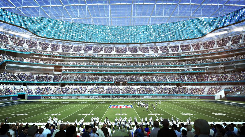 Inglewood NFL stadium field