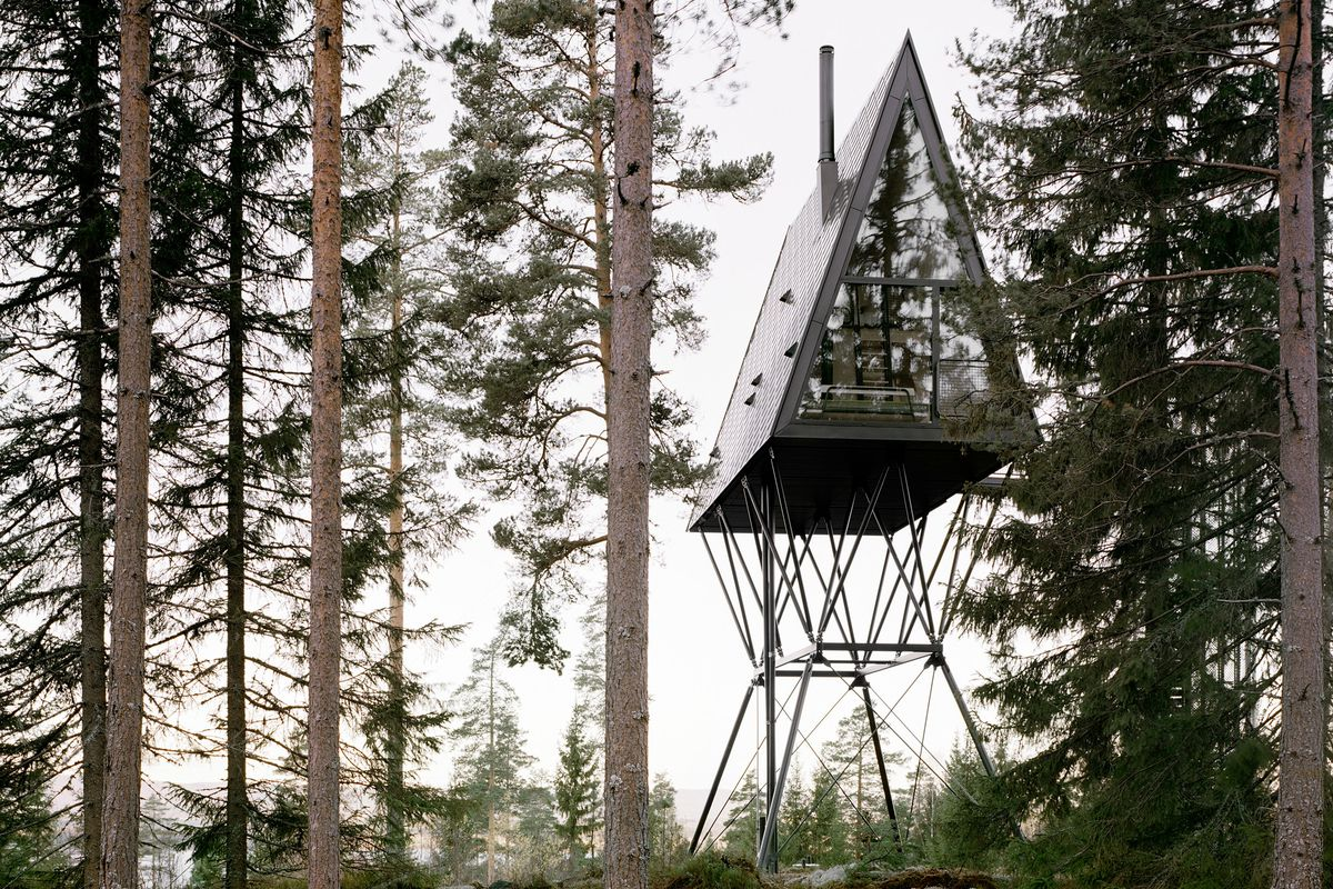 Treetop Cabins In Norway Like Birdhouses For People Curbed