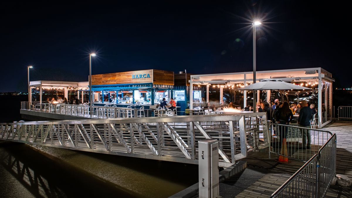 Barca Pier & Wine Bar breathes new life into the site of a former shipping pier on the Potomac.