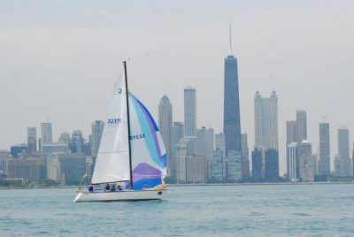 Cheap Thrill against the Chicago skyline.<br>Provided