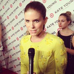 "Detail shot of Kate's dress. Photo via <a href=""http://instagram.com/p/X6BLh4ssq1/"">PopSugarFashion</a>/Instagram."