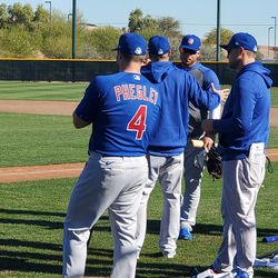 New Cubs catcher Josh Phegley and friends