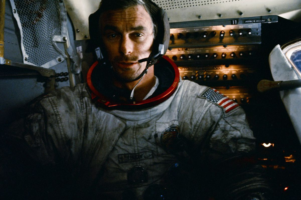 """Gene Cernan just after walking on the moon. """"Let's get this mother out of here!"""""""