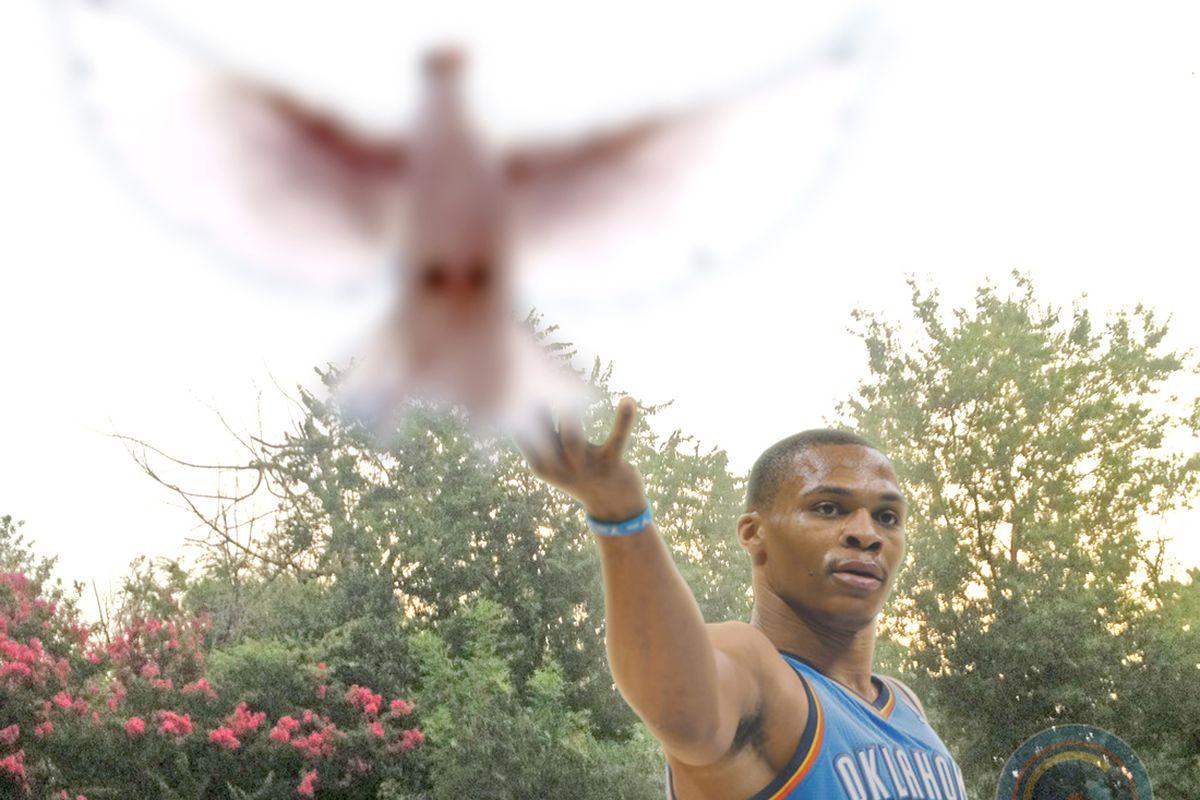Westbrook's spirit beast is apparently the murderous killer dove