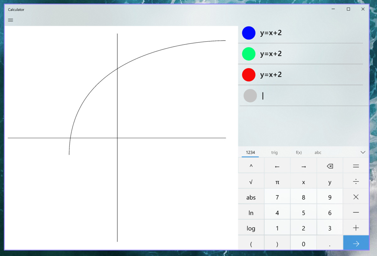 The Windows 10 calculator will soon be able to graph math