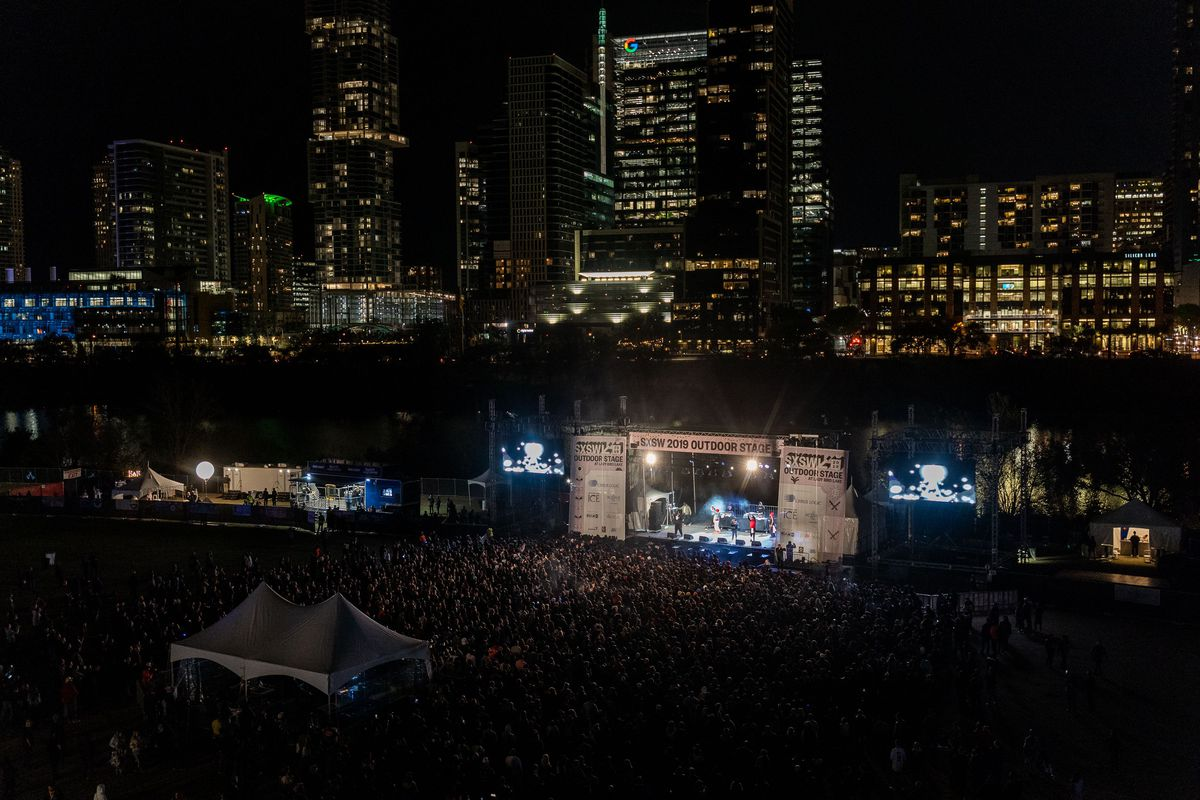The outdoor music stage at SXSW 2019