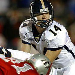Third-string BYU quarterback Todd Mortensen was pressed into duty when starter Matt Berry went down with a broken pinky.