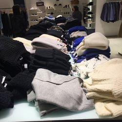 Sweaters on sweaters, with a selection for men on the far side
